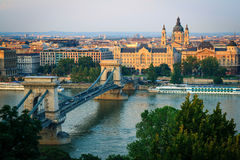 Sunset in Budapest Royalty Free Stock Image