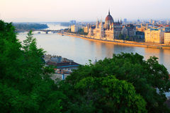 Sunset in Budapest Stock Image
