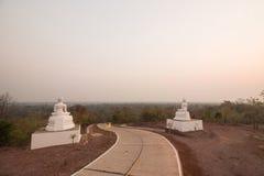 Sunset and Buddha Stock Images