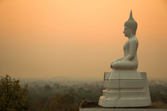 Sunset and Buddha Royalty Free Stock Images