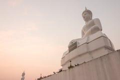 Sunset and Buddha Stock Photo