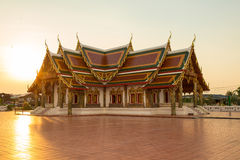 Sunset Buddhist temple,Wat Phra That Choeng Chum Stock Images