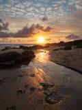 Sunset at Bude Cornwall Stock Photos