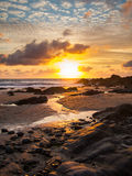 Sunset at Bude Cornwall Royalty Free Stock Photos