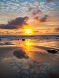 Sunset at Bude Cornwall Royalty Free Stock Images