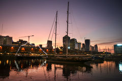 Sunset in Buenos Aires Royalty Free Stock Photography