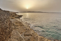 Sunset in Bugibba Royalty Free Stock Photography