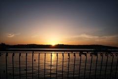 Sunset at Bugibba town Malta. Sunset at Bugibba town of Malta Royalty Free Stock Images
