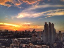 Sunset. And building Royalty Free Stock Photo