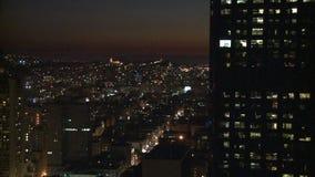 Sunset building san francisco timelapse stock footage