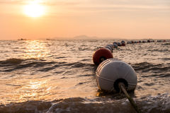 Sunset Buoys Stock Photography