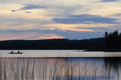 Sunset on Burnfield Lake Royalty Free Stock Photos