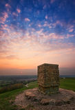 Sunset at Burton Dassett country park Royalty Free Stock Images