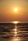 Sunset at Busaiteen sea beach, Bahrain Royalty Free Stock Photography