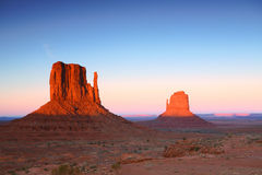 Sunset Buttes in Monument Valley Arizona Stock Photography