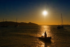 Sunset in Buzios Royalty Free Stock Images