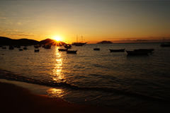 Sunset in Buzios Royalty Free Stock Image