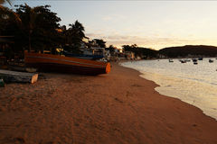 Sunset in Buzios Stock Photography