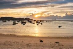 Sunset in Buzios. Rio de Janeiro Stock Photos