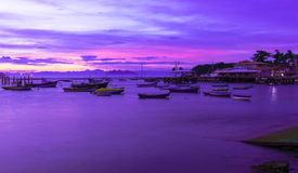 Sunset in Buzios, Rio de Janeiro Stock Photography