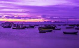 Sunset in Buzios, Rio de Janeiro Royalty Free Stock Photography