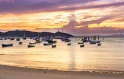 Sunset in Buzios. Rio de Janeiro Royalty Free Stock Photo