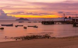 Sunset in Buzios. Rio de Janeiro Stock Images