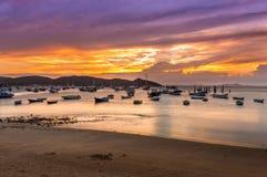 Sunset in Buzios. Rio de Janeiro Stock Image