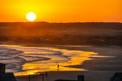 Sunset in Cabo Polonio, Uruguay. Sunset in the hippy village of Cabo Polonio in Uruguay Royalty Free Stock Image