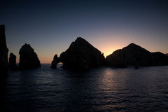 Sunset in Cabo San Lucas Stock Photography