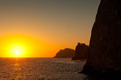 Sunset in Cabo San Lucas, Mexico Royalty Free Stock Photography