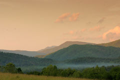 Sunset in Cades Cove. Sunset sky in Cades Cove Great Smoky Mountains stock images