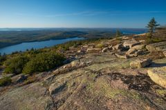 Sunset on Cadillac mountain Royalty Free Stock Photography
