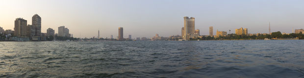 Sunset in Cairo on Nile Stock Images