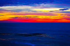 Sunset in California stock image