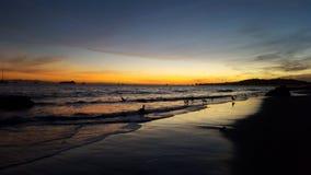 Sunset California. A beautiful sunset at the golden coast Stock Photos