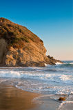 Sunset on the California Coast. Sunset on the Cliffs and the Beach in California royalty free stock image