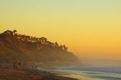 Sunset Californian beach Royalty Free Stock Image