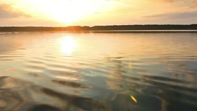 Sunset on a calm lake Royalty Free Stock Images