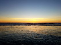 Sunset Calm Pacific Ocean Beach Relaxation 4k Royalty Free Stock Photography