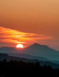 Sunset Camel's Hump Royalty Free Stock Photography