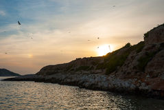 Sunset in Cananques natural park Royalty Free Stock Photos