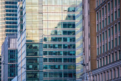 Sunset. Canary Wharf business centre view, London Stock Photo