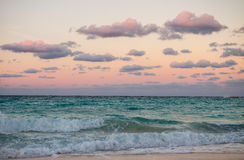 Sunset in Cancun, Mexico Royalty Free Stock Photos