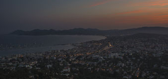 Sunset in Cannes Stock Photography