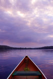 Sunset canoe royalty free stock images