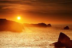 Sunset at Cantabrian coast Royalty Free Stock Photo