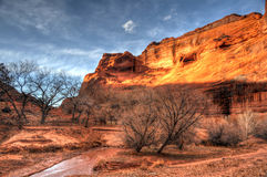 Sunset at Canyon de Chelly National Park Royalty Free Stock Photography
