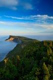 Sunset on Cap Bon Ami. High angle shoot of Cap Bon Ami peninsula in Forillon National Park Royalty Free Stock Image