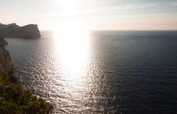 Sunset on Cap de Formentor - beautiful coast of Majorca, Spain - Europe. Sunset on Cap de Formentor - beautiful coast of Majorca, Spain - Europe Royalty Free Stock Images